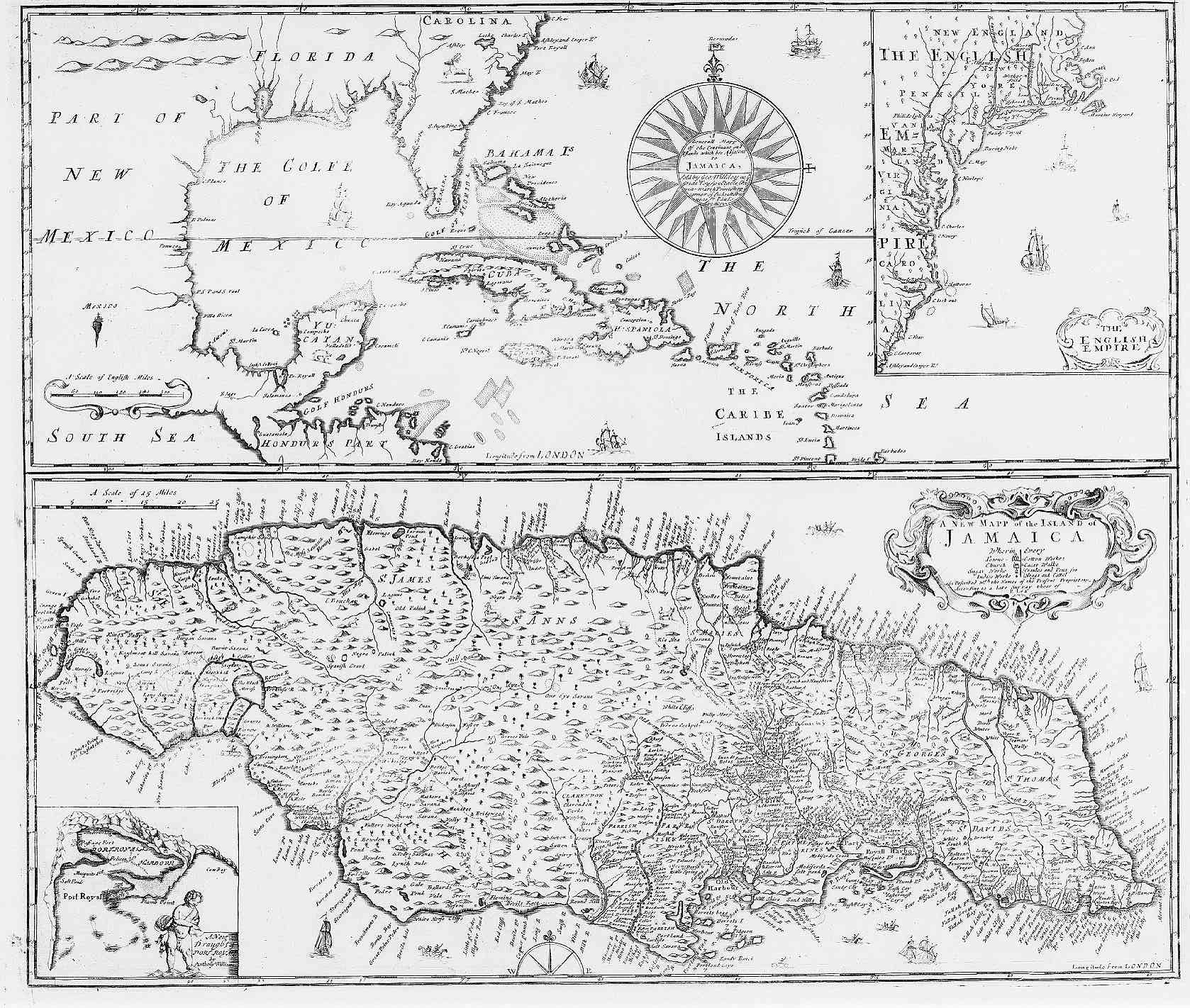 Jamaica and Caribbean 1685