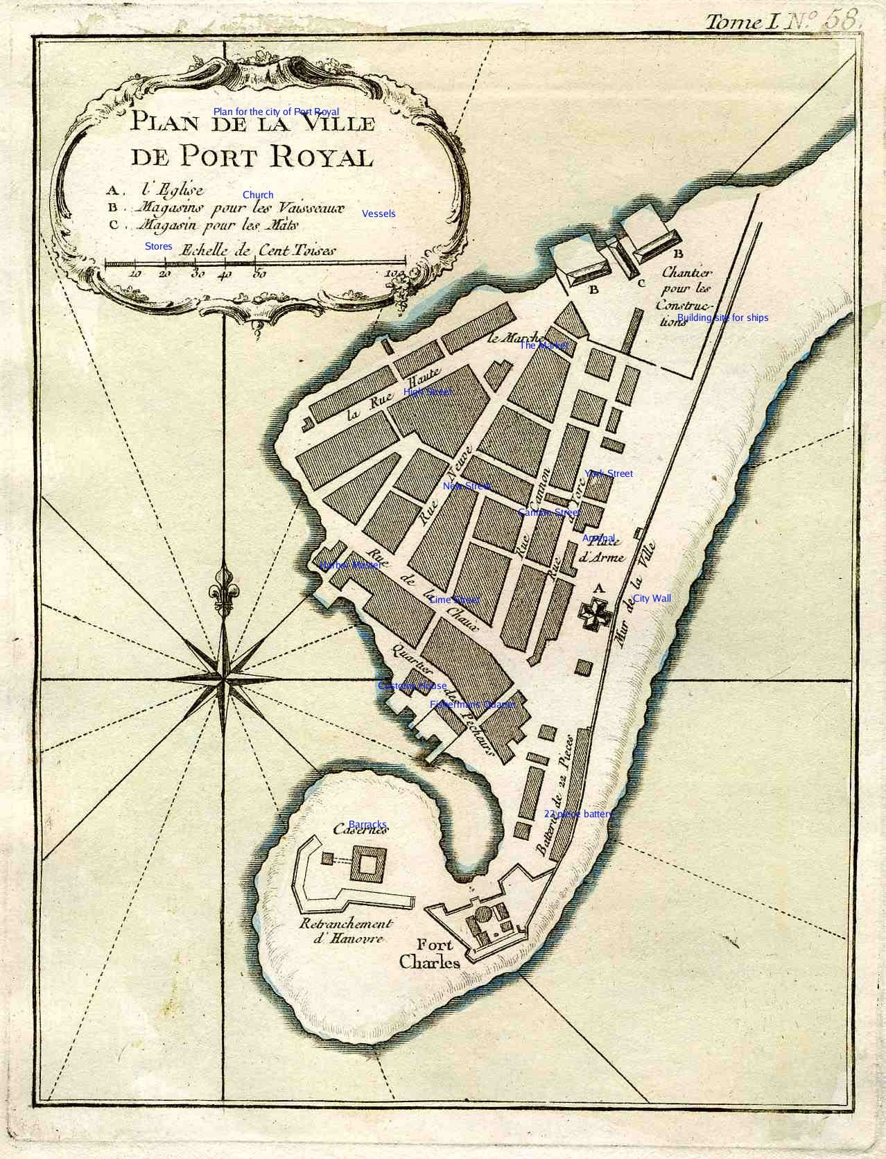 The town of Port Royal with English edits