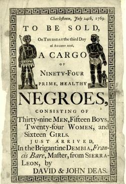 Slave Auction ad