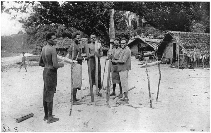 Some of the men in Argubo's village
