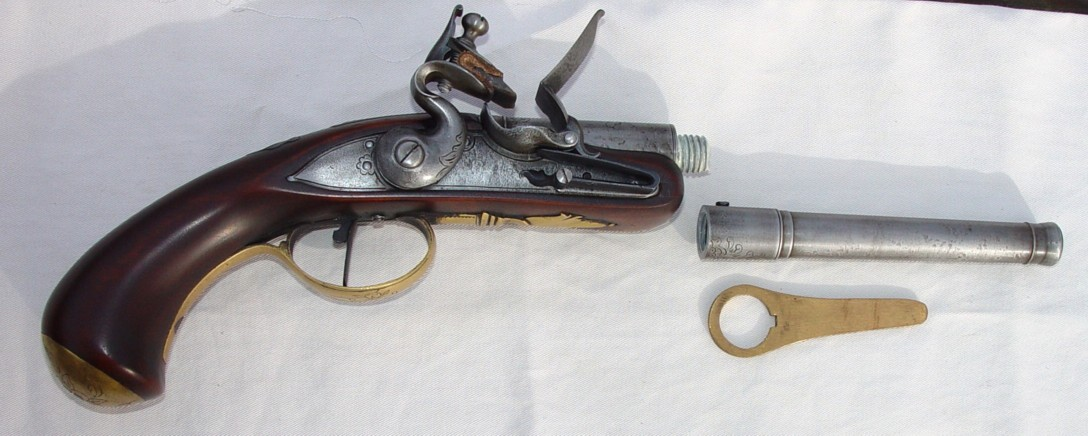 Disassembled Queen Anne Pistol